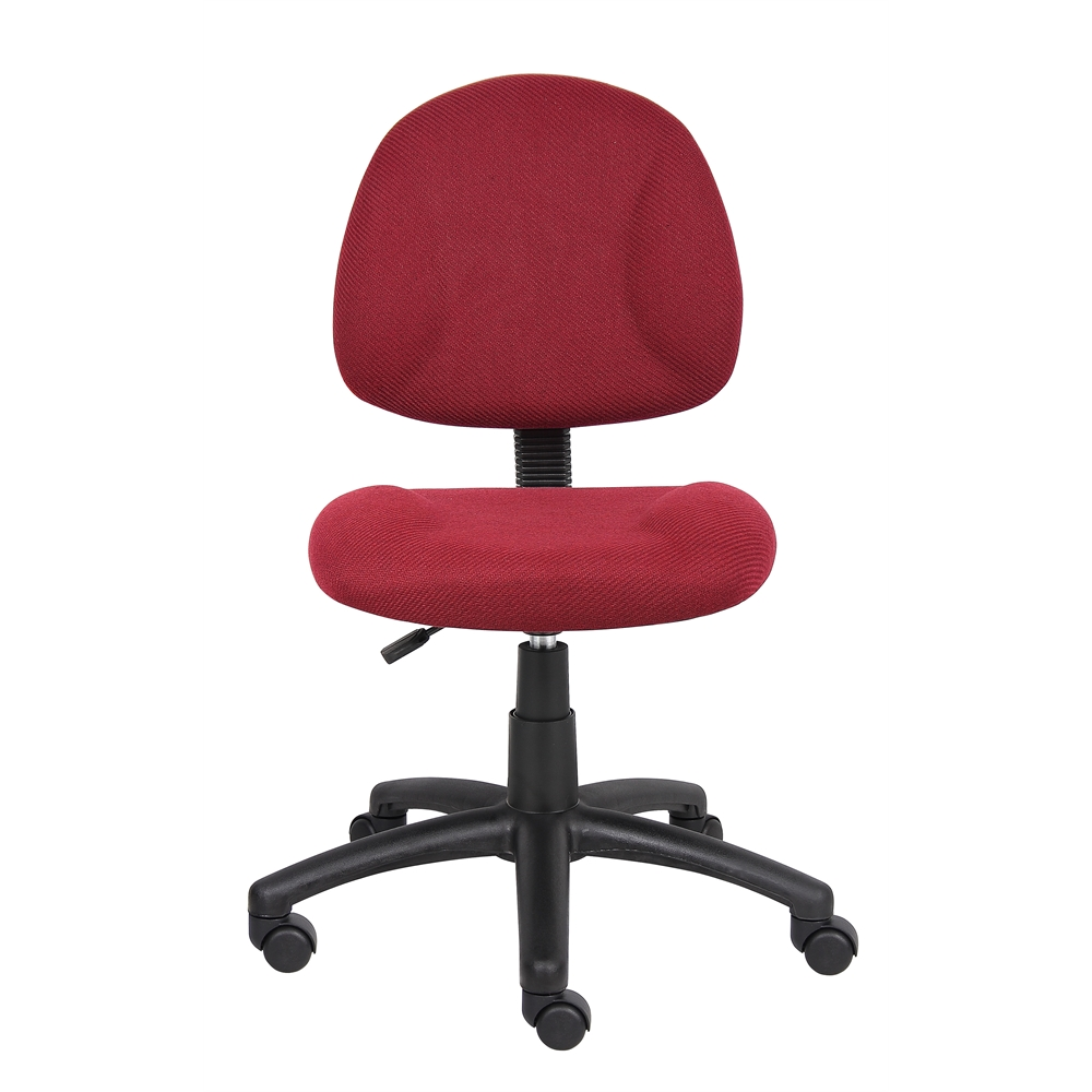 Boss Burgundy  Deluxe Posture Chair. Picture 3