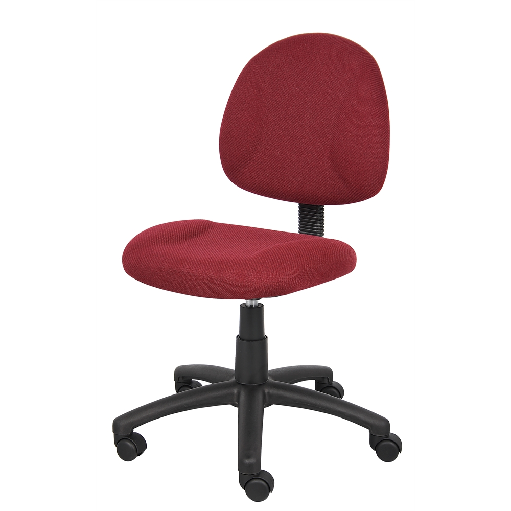Boss Burgundy  Deluxe Posture Chair. Picture 4