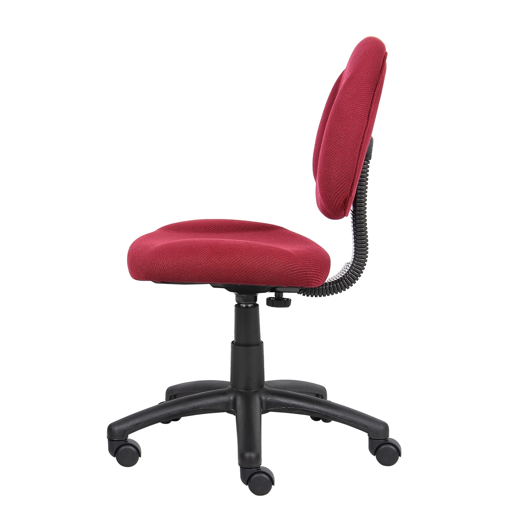 Boss Burgundy  Deluxe Posture Chair. Picture 5