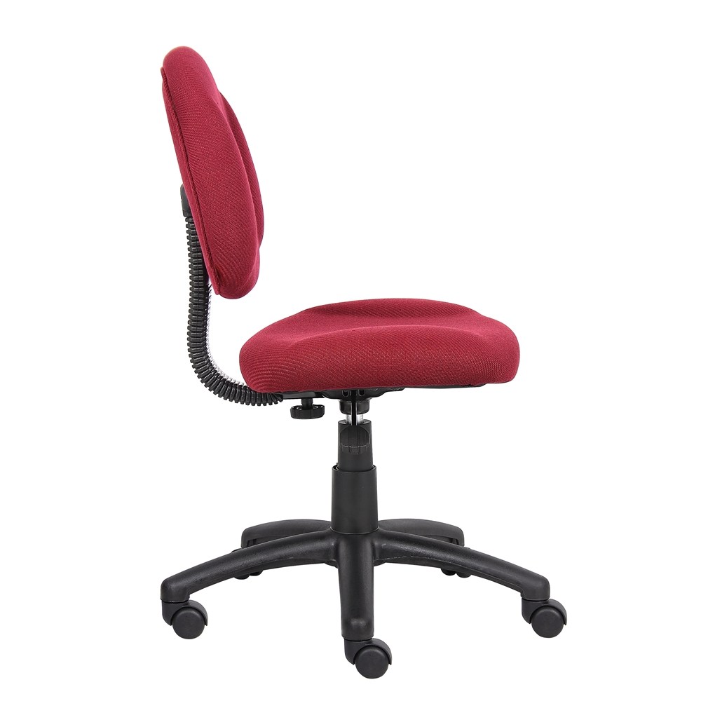 Boss Burgundy  Deluxe Posture Chair. Picture 6