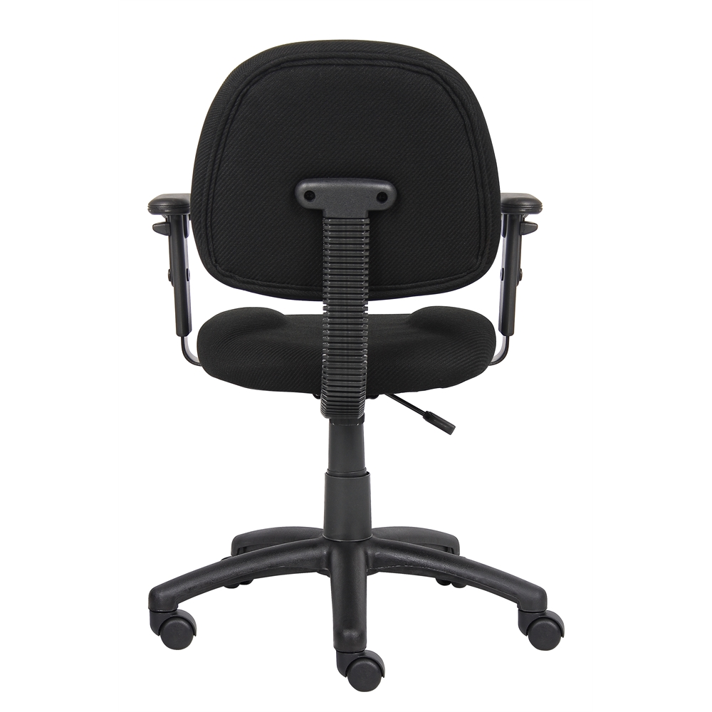 Boss Black  Deluxe Posture Chair W/ Adjustable Arms. Picture 2