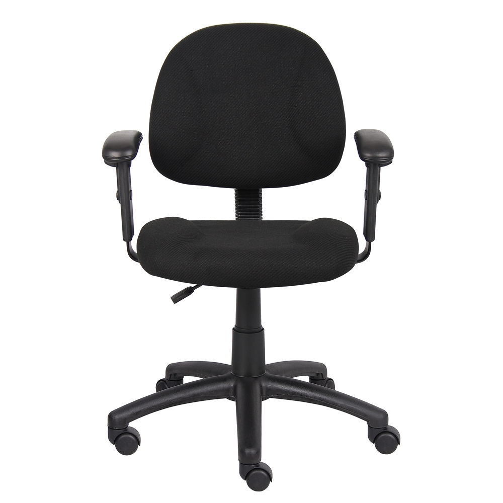 Boss Black  Deluxe Posture Chair W/ Adjustable Arms. Picture 3