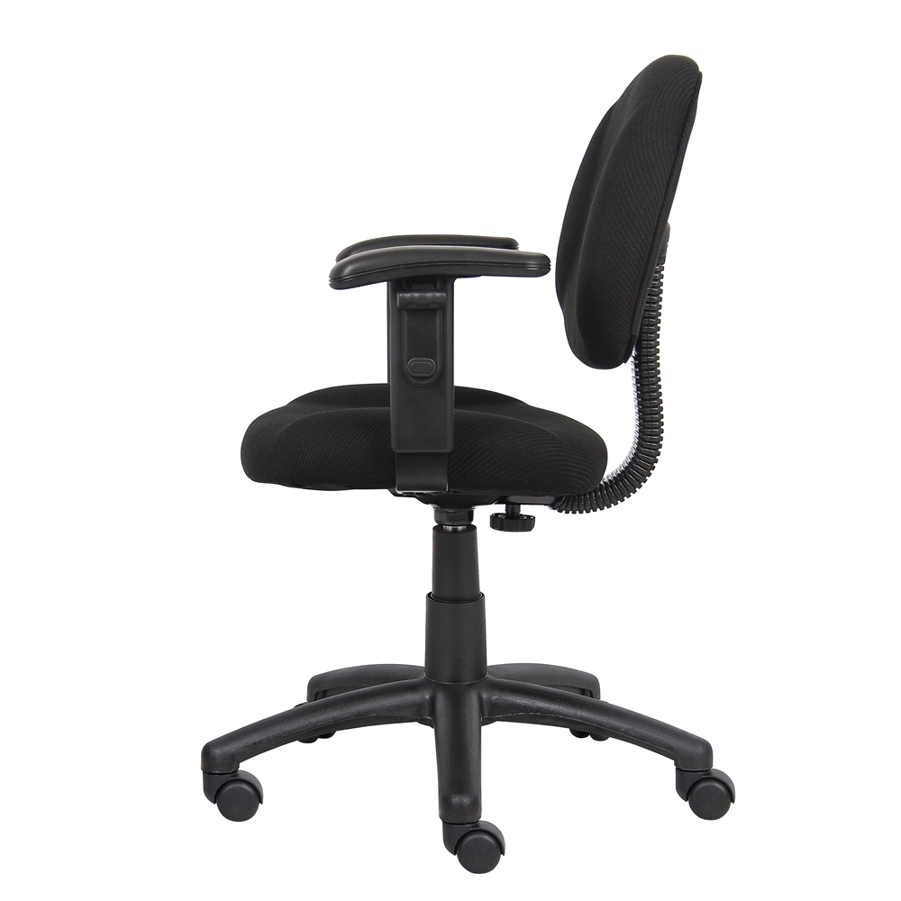 Boss Black  Deluxe Posture Chair W/ Adjustable Arms. Picture 5