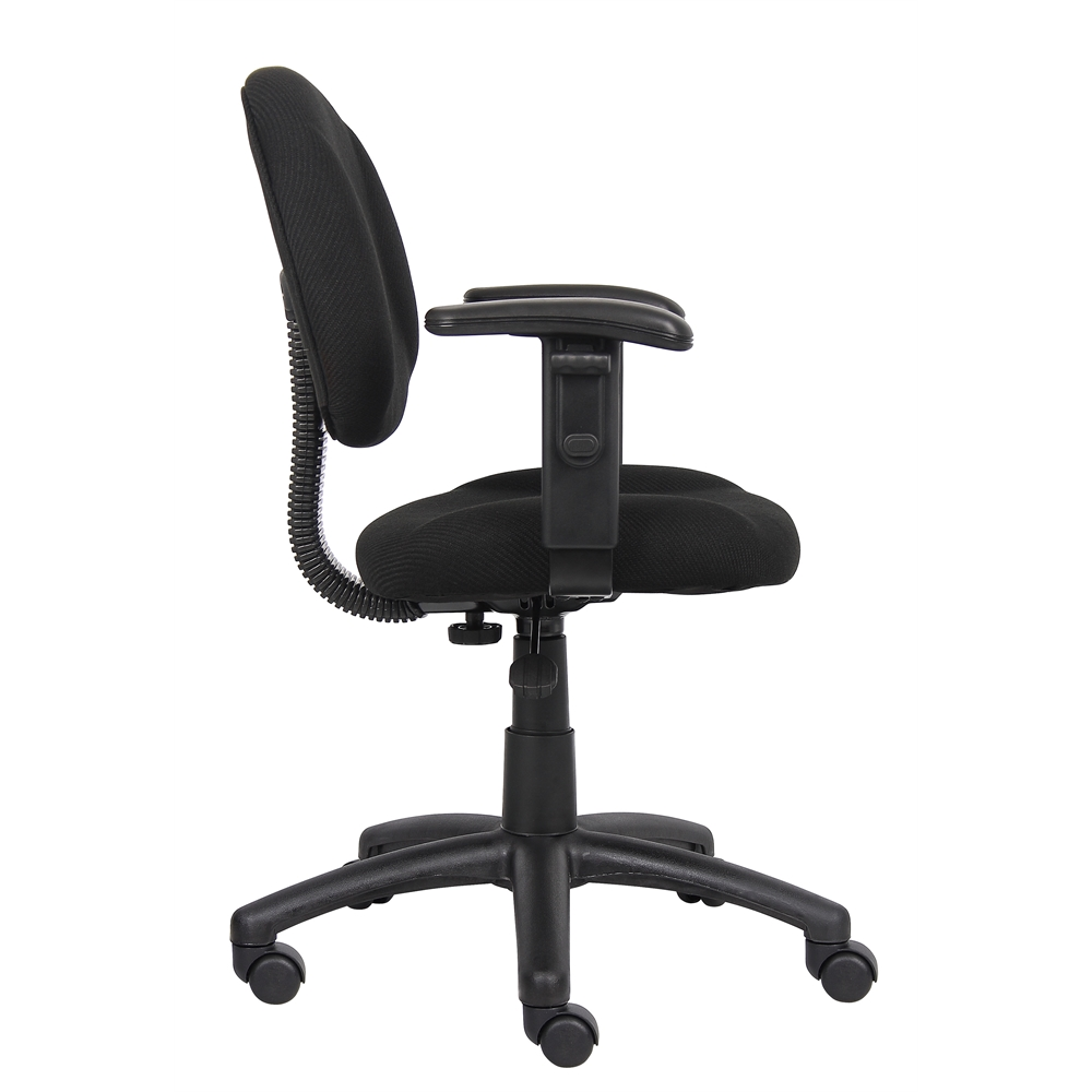 Boss Black  Deluxe Posture Chair W/ Adjustable Arms. Picture 6