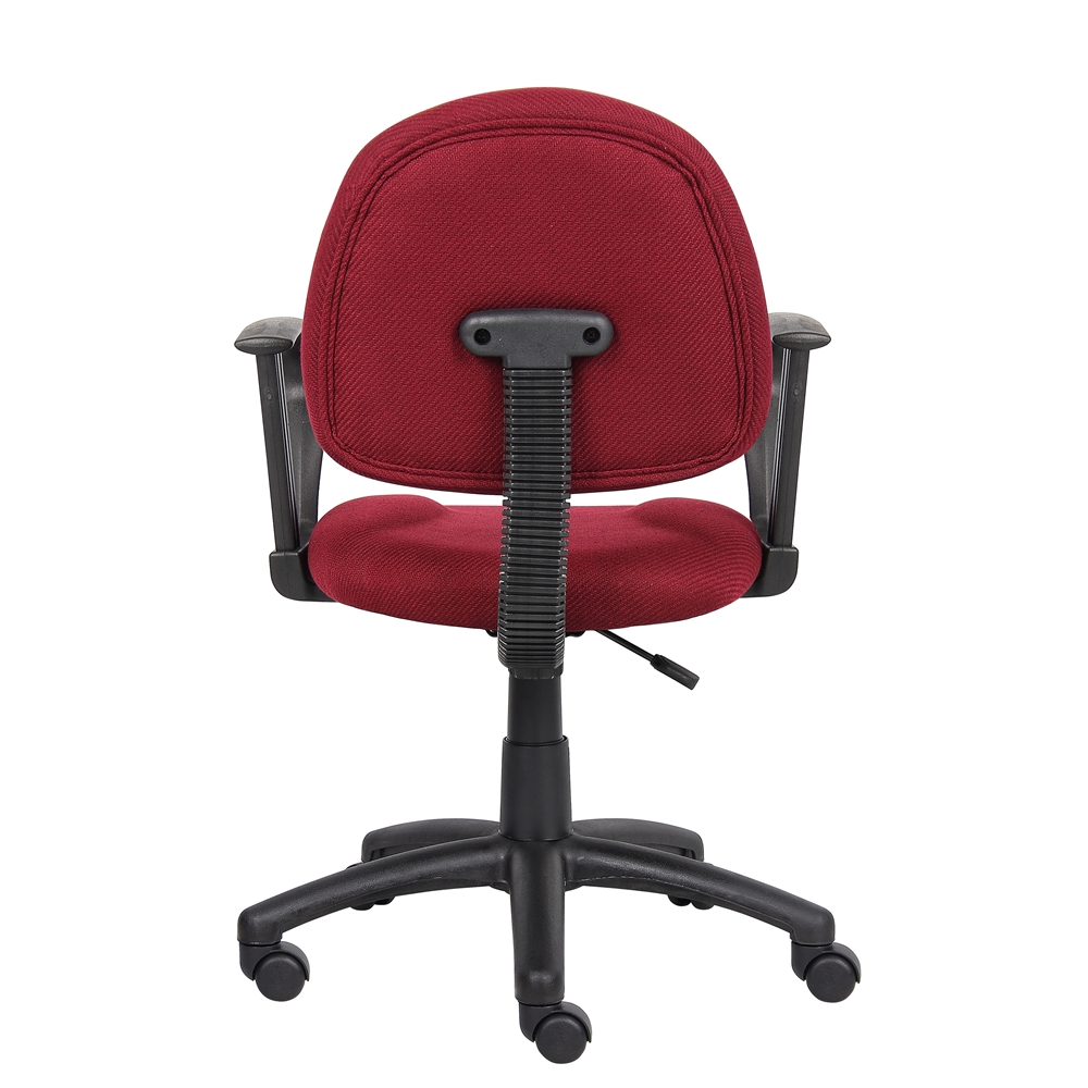 Boss Burgundy  Deluxe Posture Chair W/ Loop Arms. Picture 1
