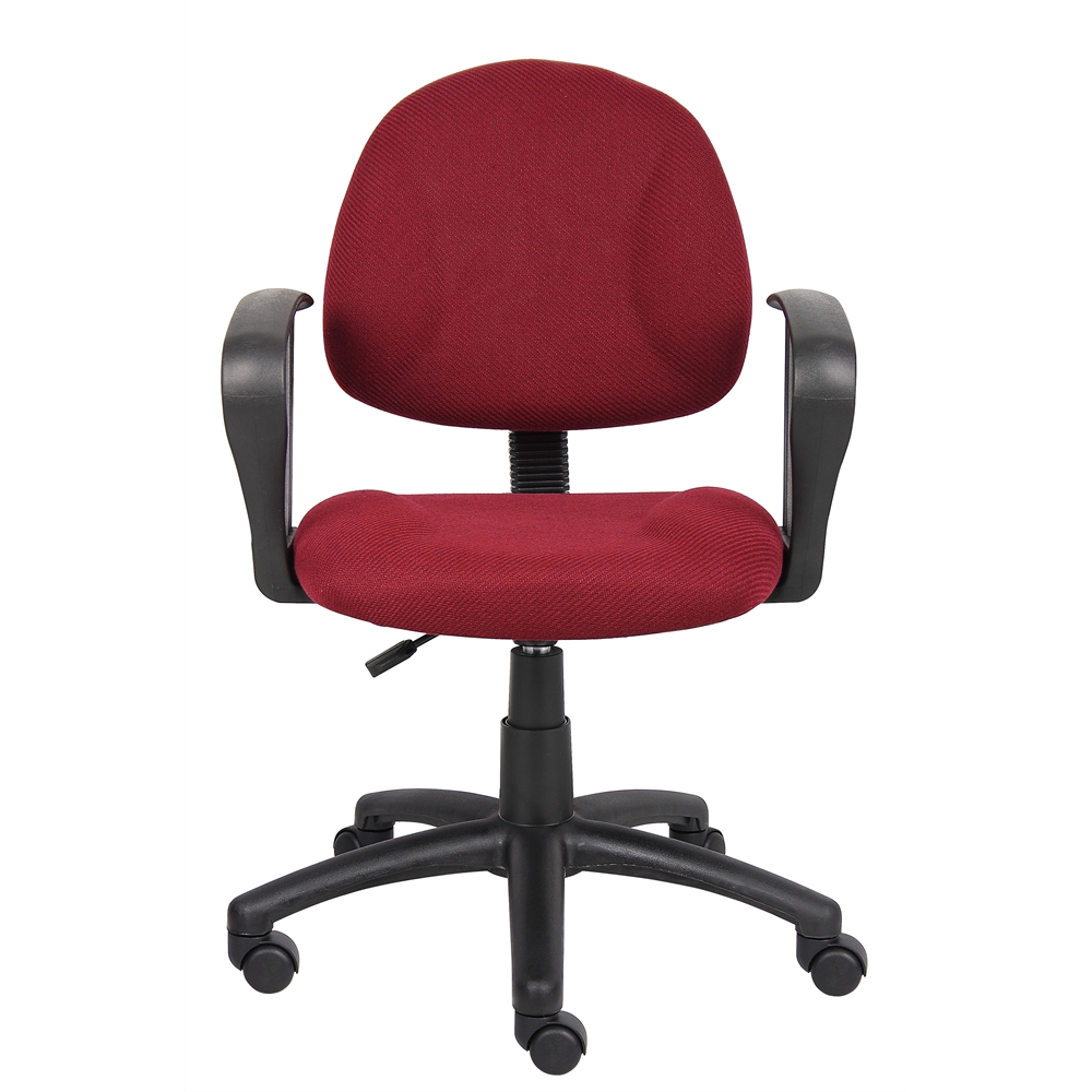Boss Burgundy  Deluxe Posture Chair W/ Loop Arms. Picture 2
