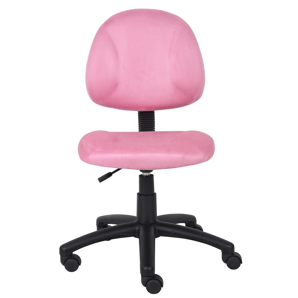 Boss Pink Microfiber Deluxe Posture Chair. Picture 3