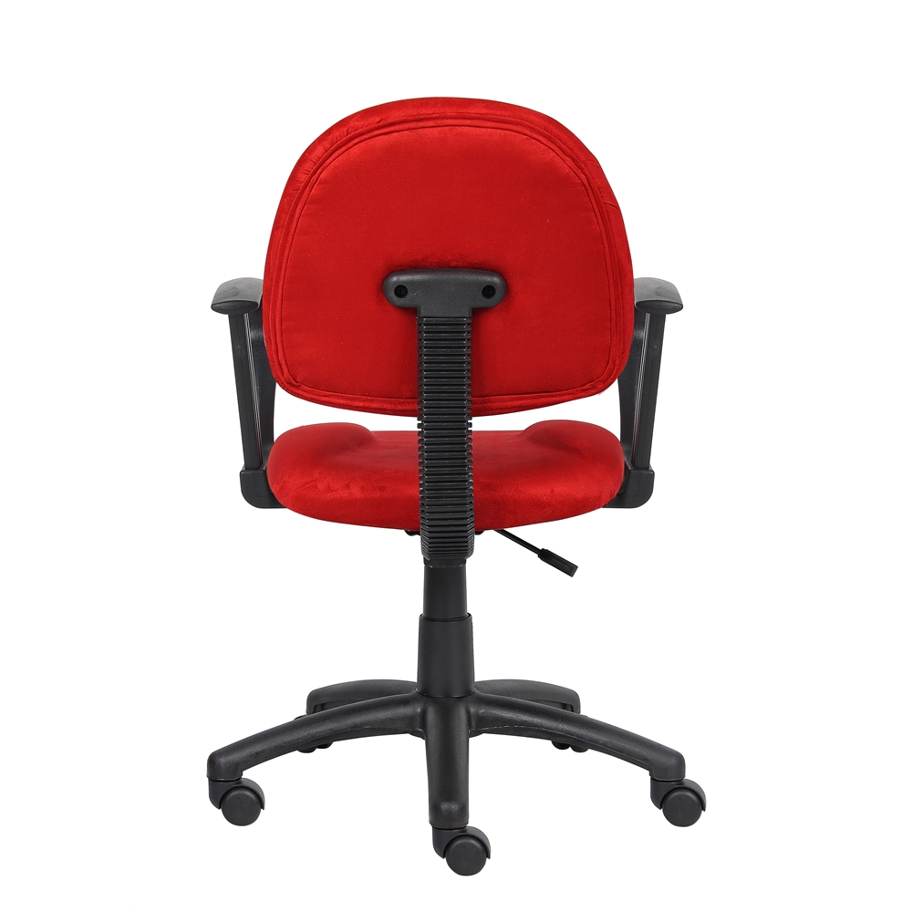 Boss Red Microfiber Deluxe Posture Chair W/ Loop Arms.. Picture 1
