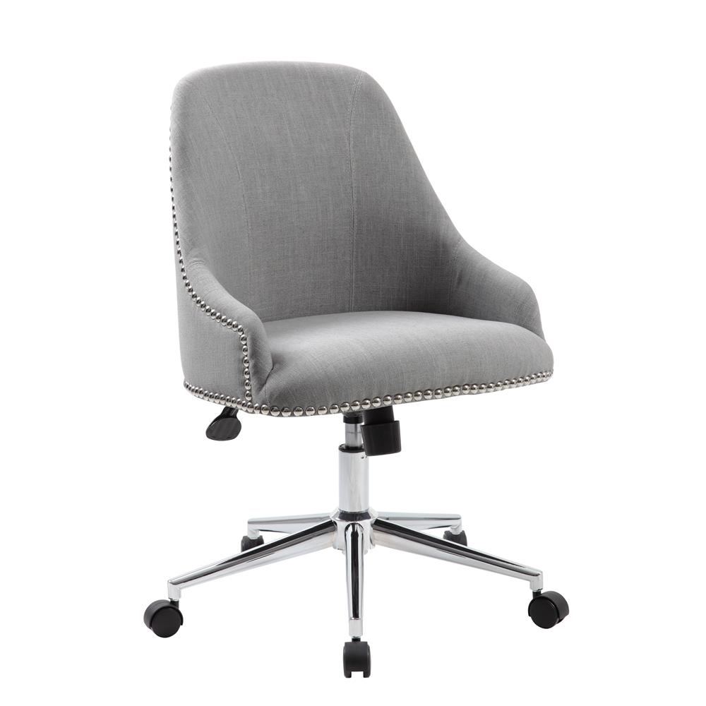 Boss Carnegie Desk Chair - Grey. Picture 1