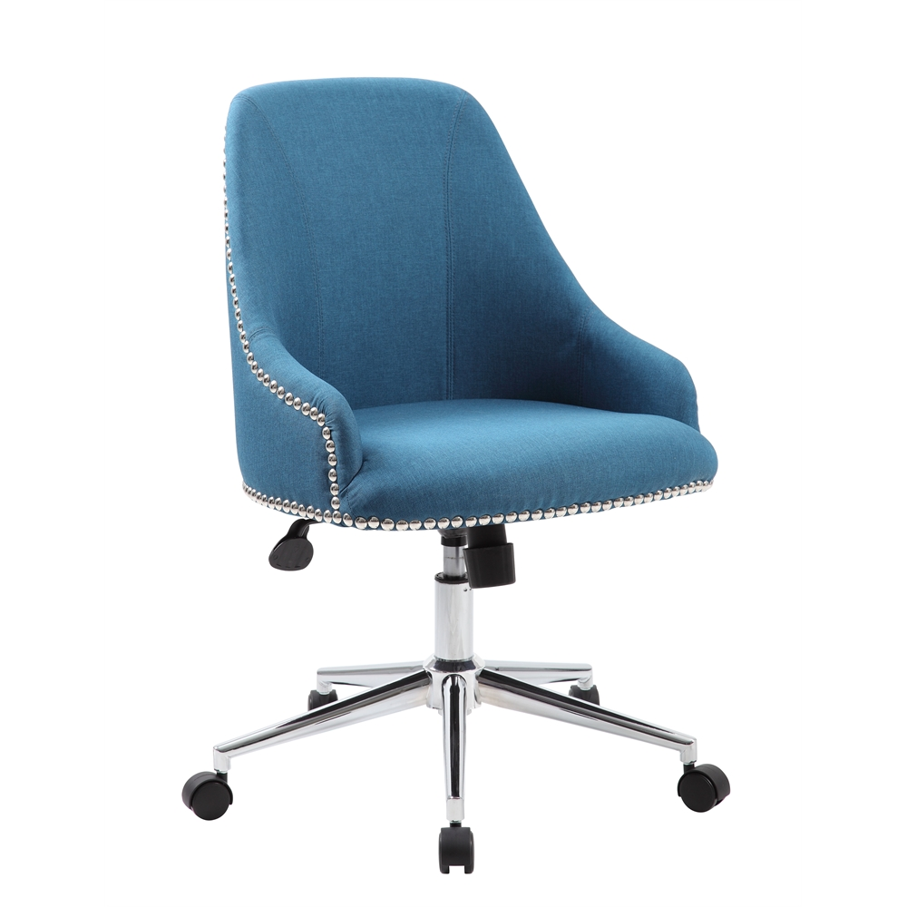 Boss Carnegie Desk Chair - Peacock Blue. Picture 1