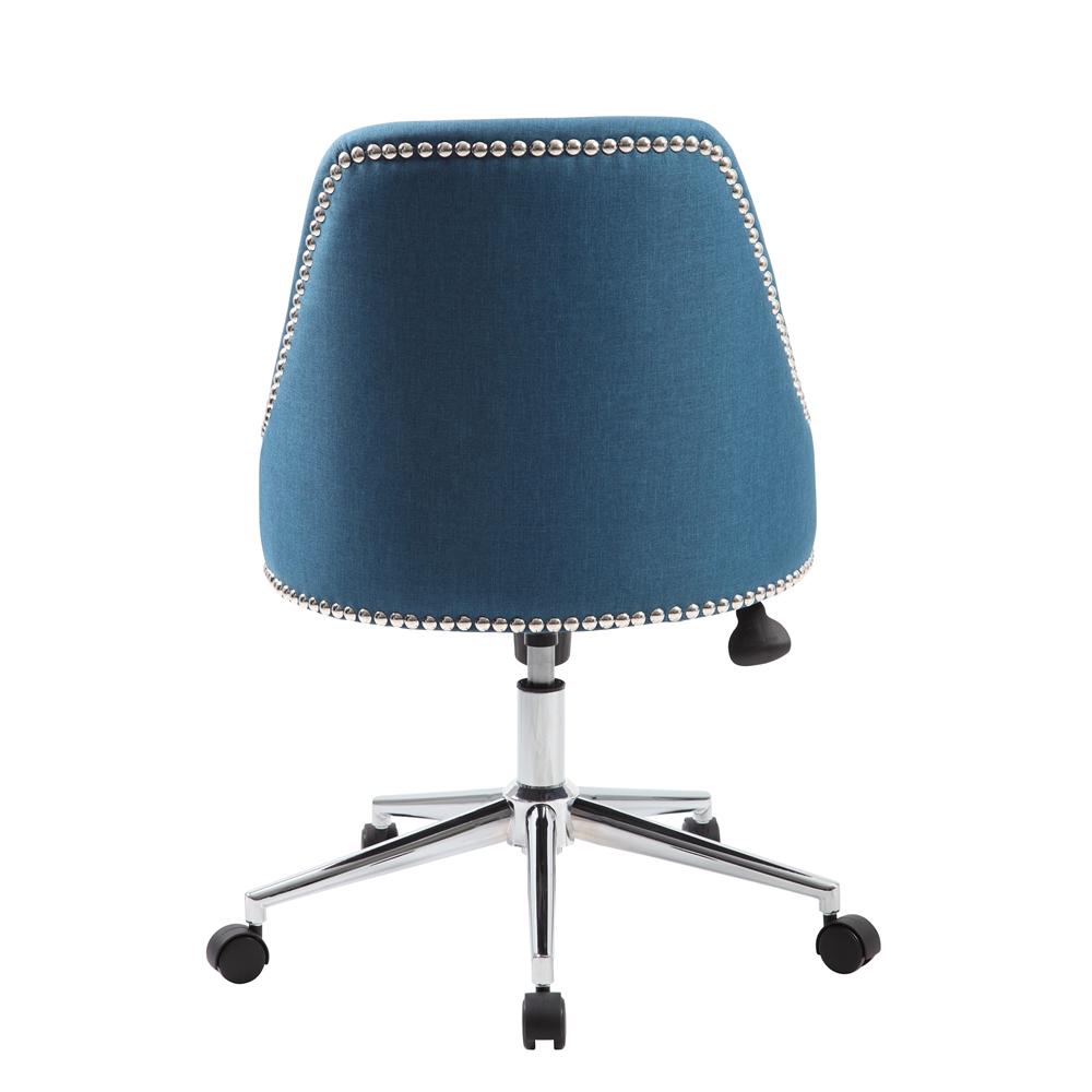 Boss Carnegie Desk Chair - Peacock Blue. Picture 2
