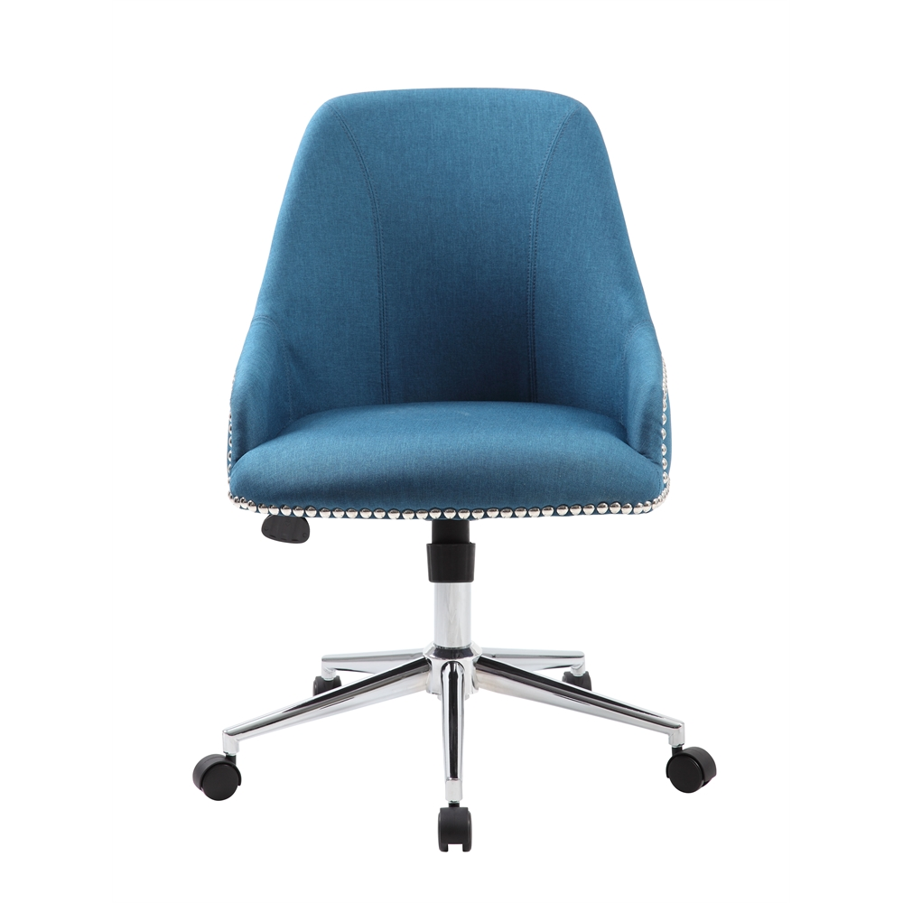 Boss Carnegie Desk Chair - Peacock Blue. Picture 3