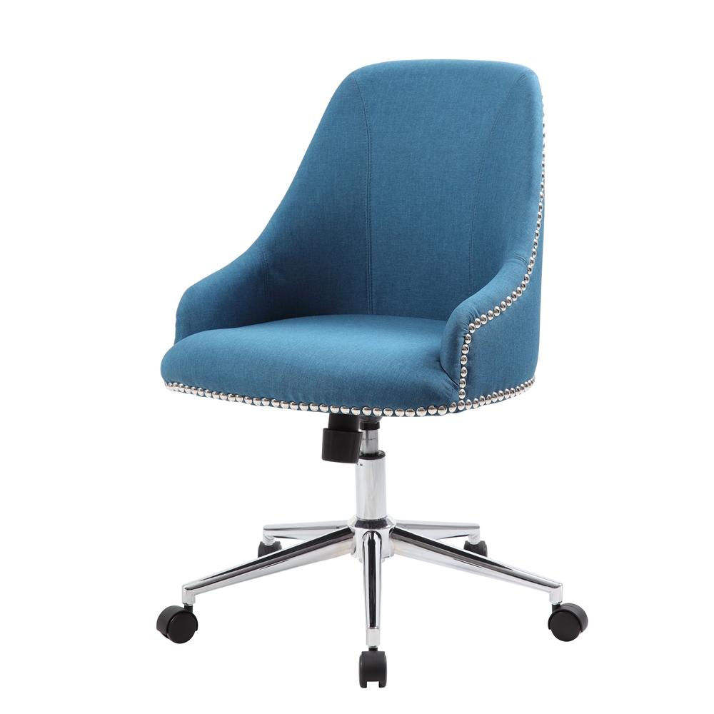 Boss Carnegie Desk Chair - Peacock Blue. Picture 4