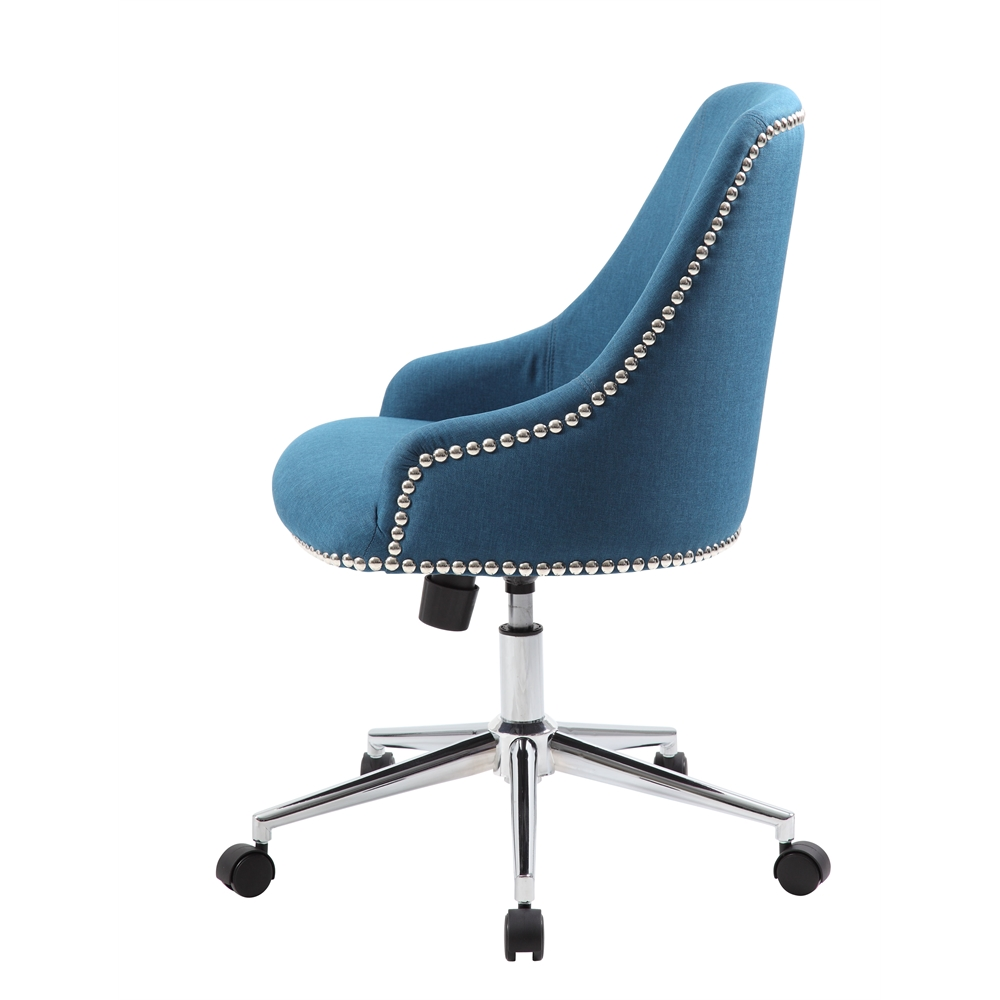 Boss Carnegie Desk Chair - Peacock Blue. Picture 5