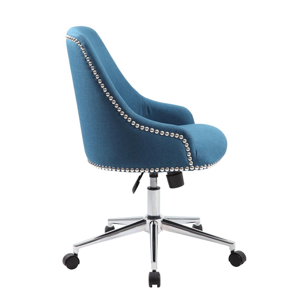 Boss Carnegie Desk Chair - Peacock Blue. Picture 6