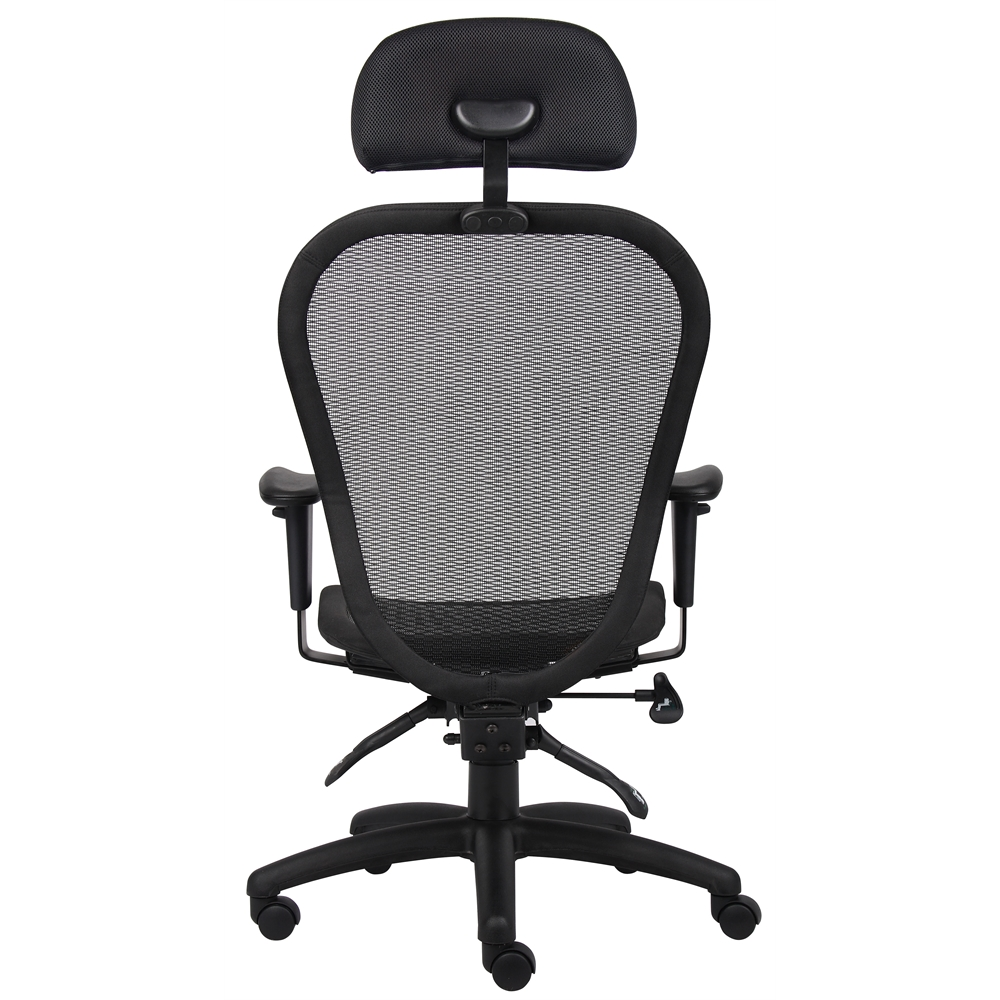 Boss multi function mesh chair w headrest for Function chairs