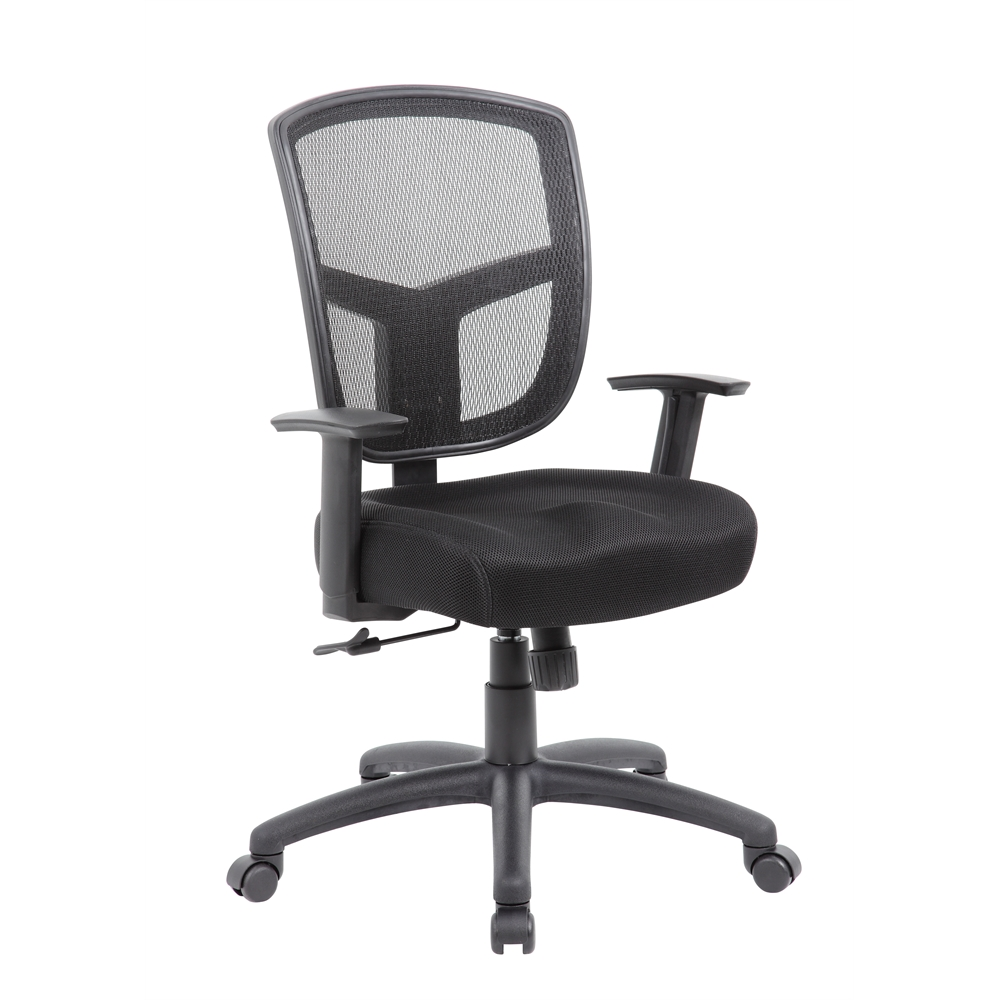 boss contract mesh task chair synchro tilt mechanism
