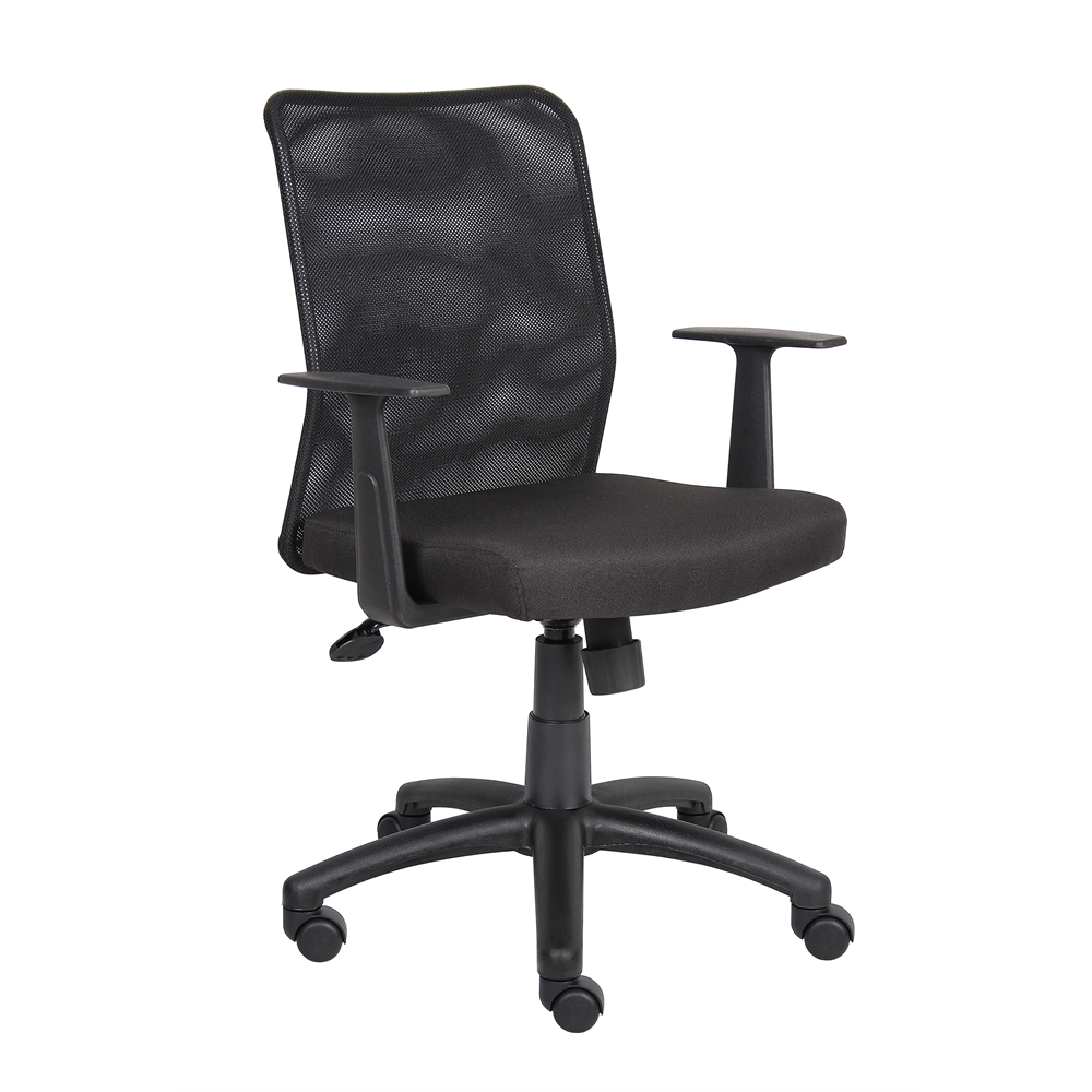 Boss Budget Mesh Task Chair W/ T-Arms. Picture 1