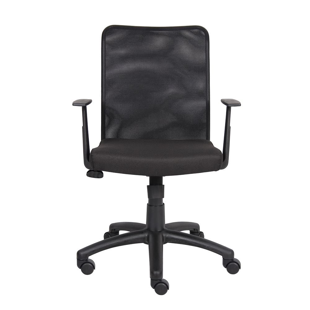 Boss Budget Mesh Task Chair W/ T-Arms. Picture 3