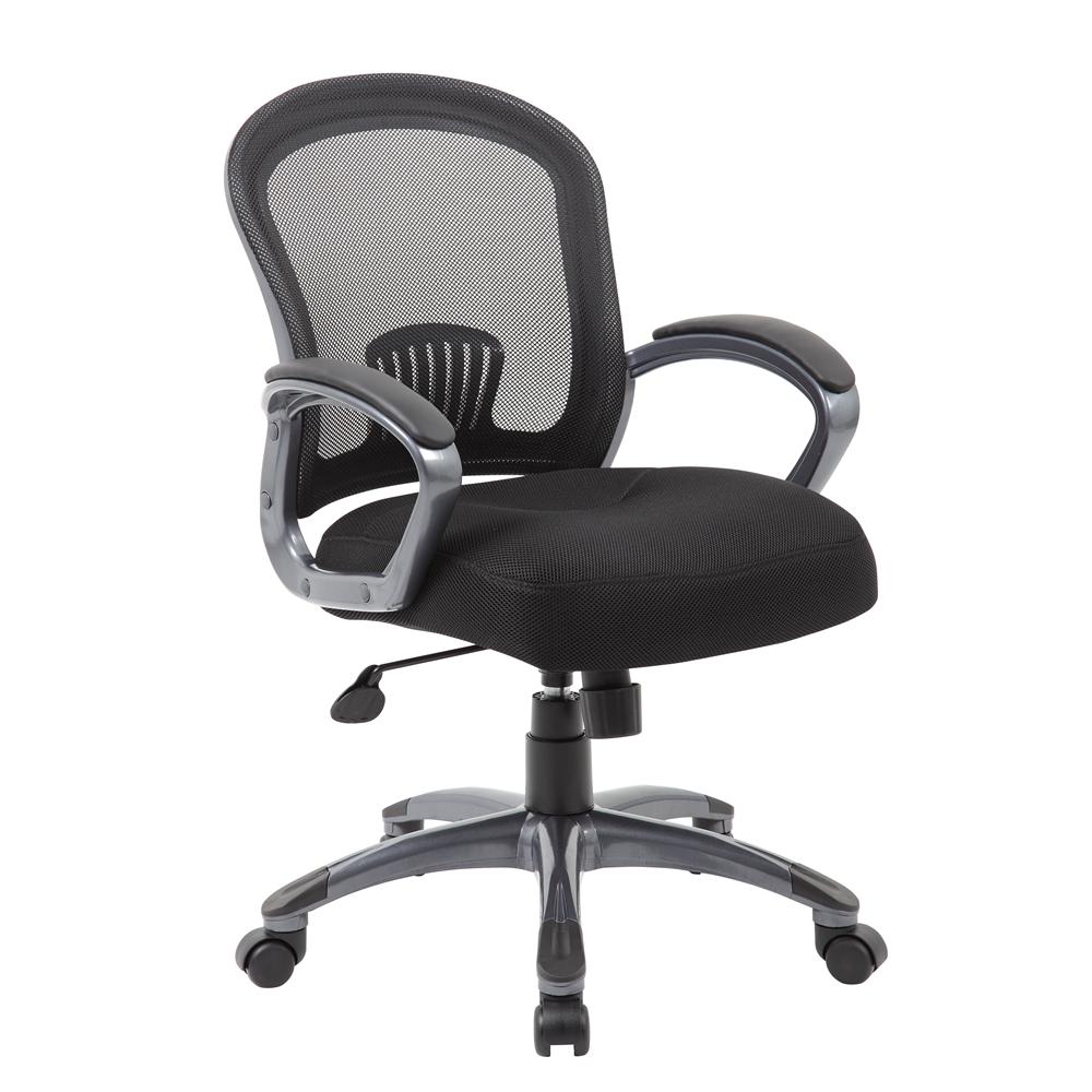 Boss Ergonomic Mesh Task Chair - Mid Back. Picture 1