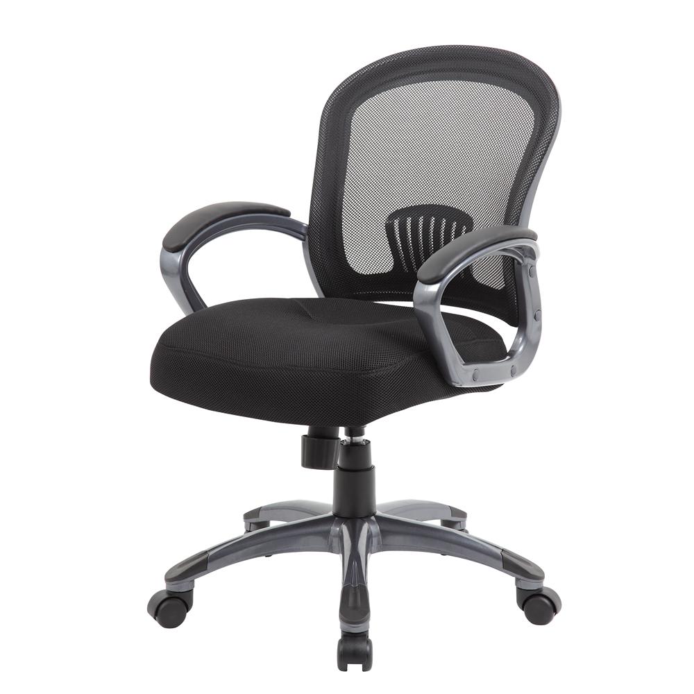 Boss Ergonomic Mesh Task Chair - Mid Back. Picture 4