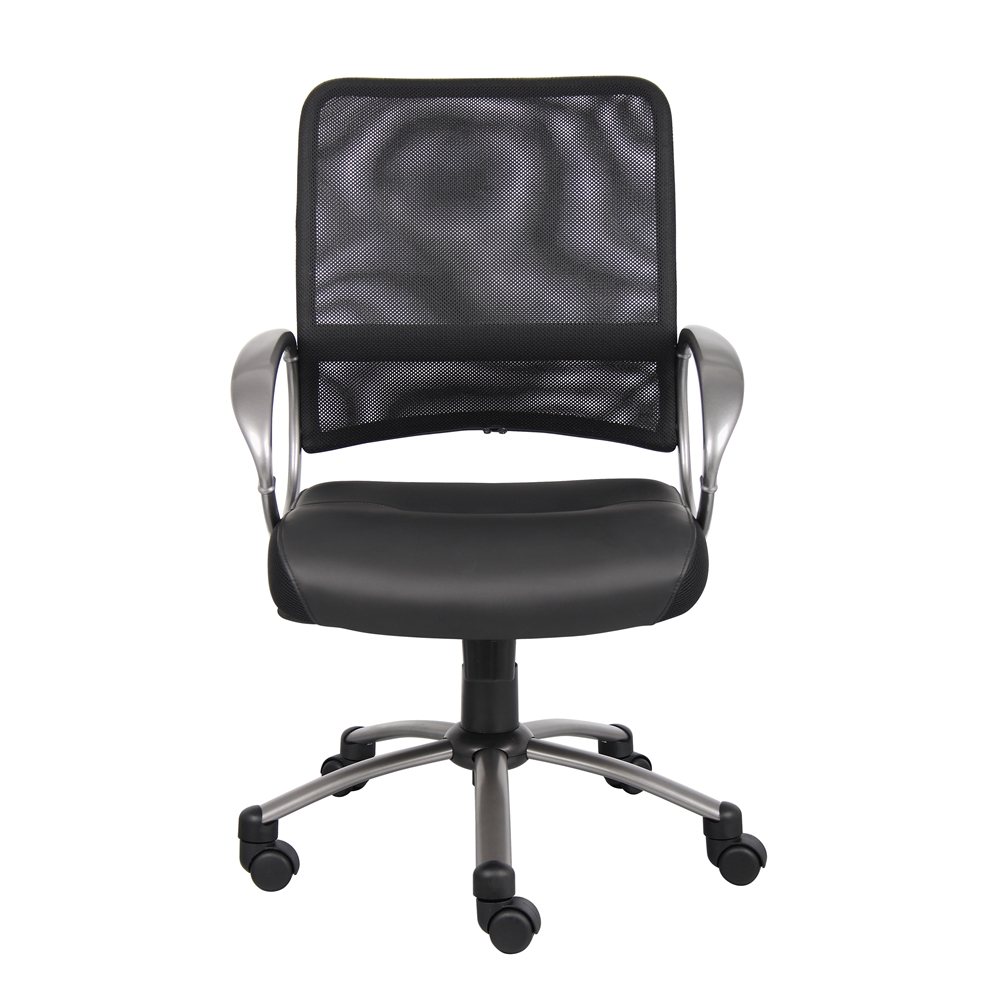 Boss Mesh Back W/ Pewter Finish Task Chair. Picture 2