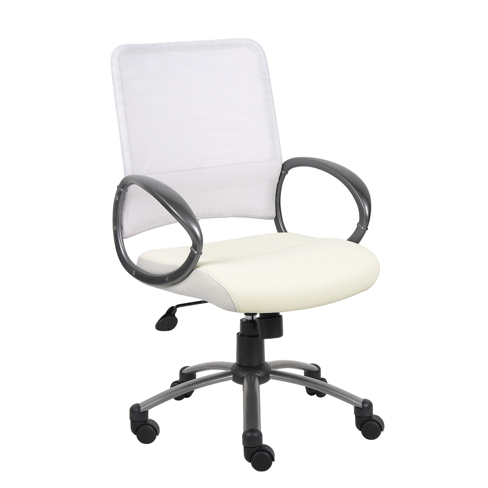 Boss Mesh Back W/ Pewter Finish Task Chair. Picture 8