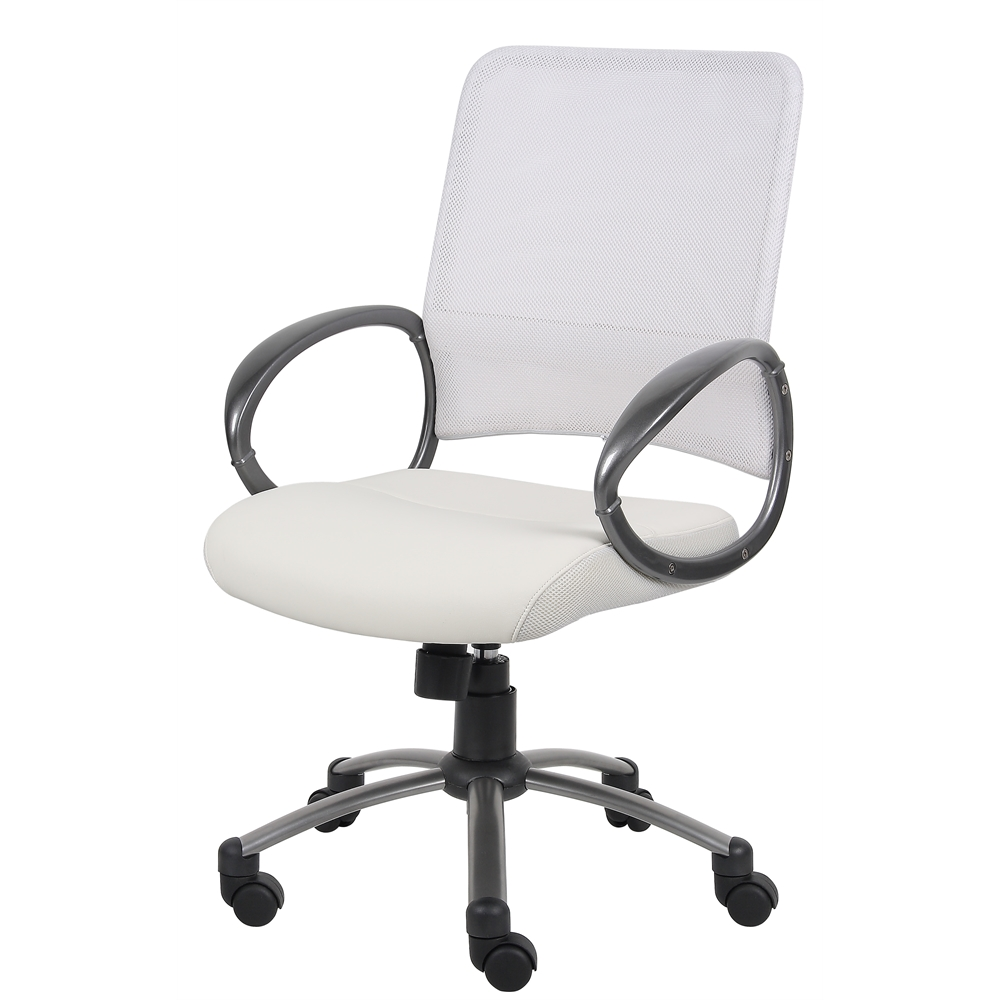 Boss Mesh Back W/ Pewter Finish Task Chair. Picture 5