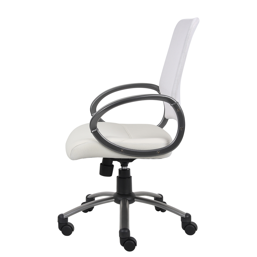 Boss Mesh Back W/ Pewter Finish Task Chair. Picture 6