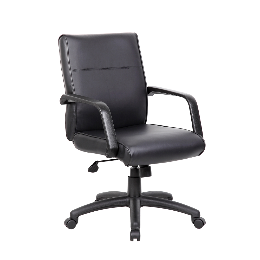 Boss Mid Back Executive Chair In LeatherPlus. Picture 6