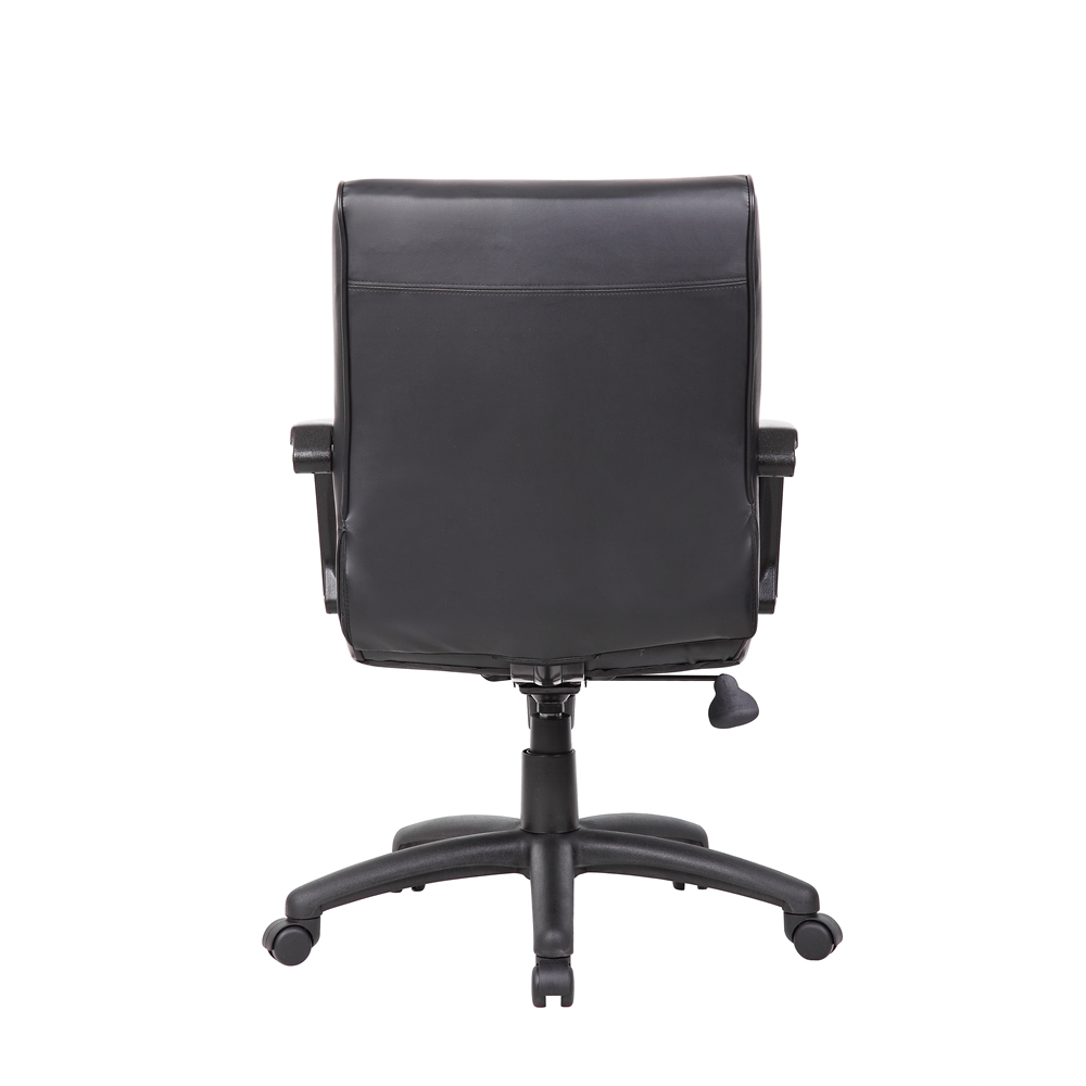 Boss Mid Back Executive Chair In LeatherPlus. Picture 1