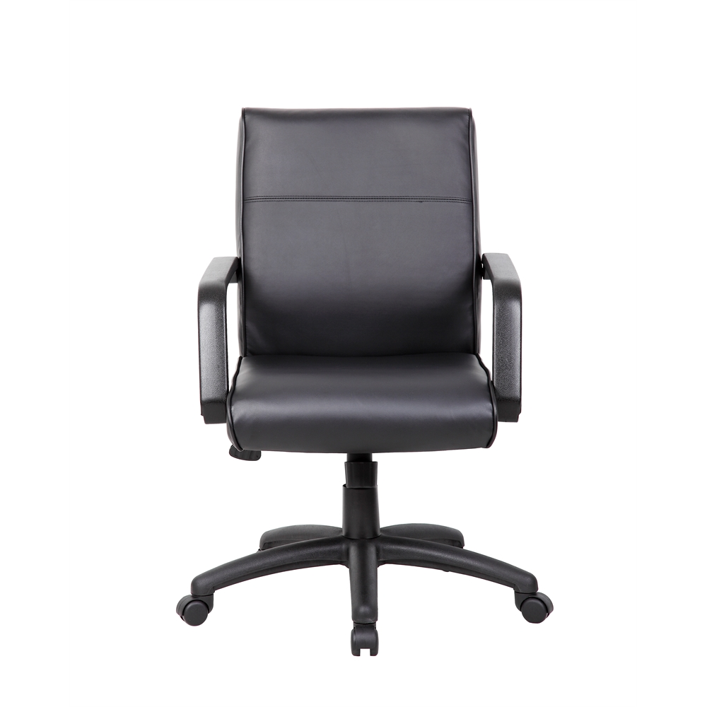Boss Mid Back Executive Chair In LeatherPlus. Picture 2
