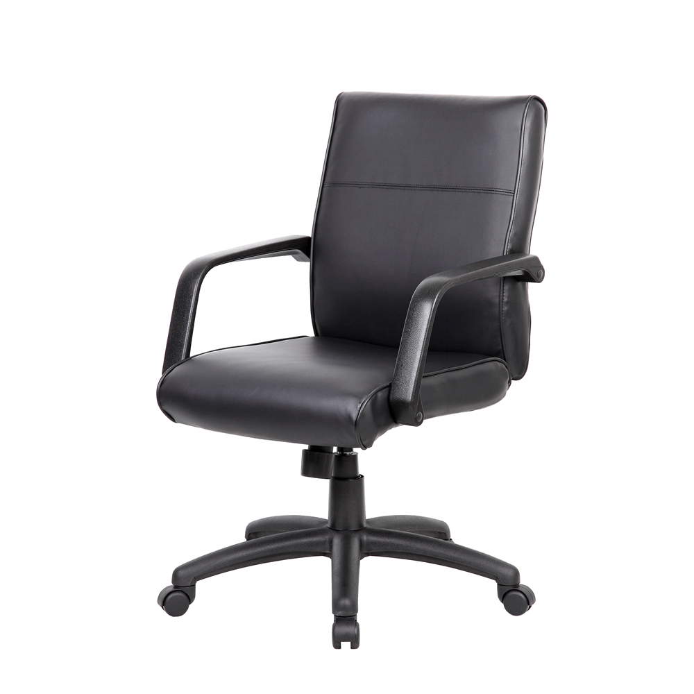 Boss Mid Back Executive Chair In LeatherPlus. Picture 3