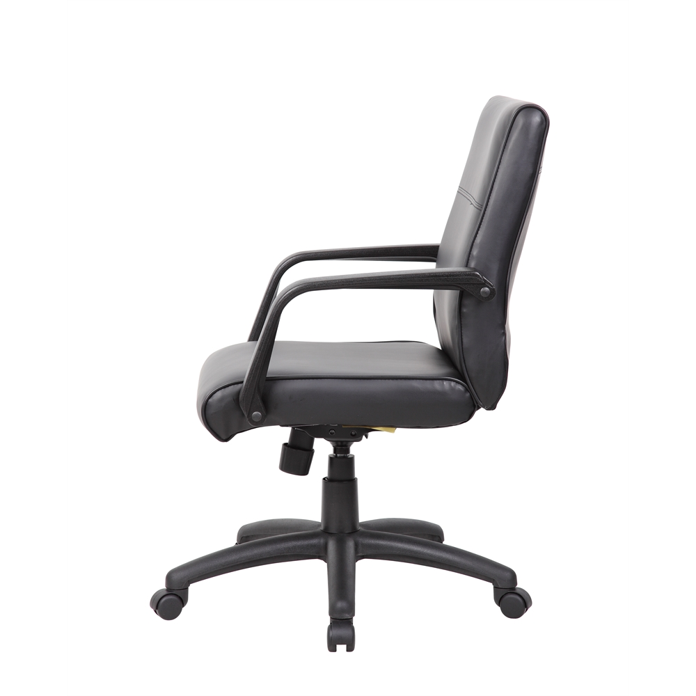 Boss Mid Back Executive Chair In LeatherPlus. Picture 4