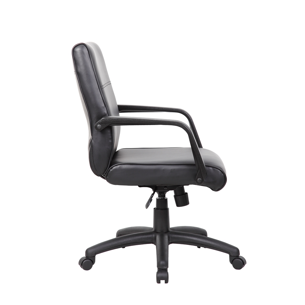 Boss Mid Back Executive Chair In LeatherPlus. Picture 5
