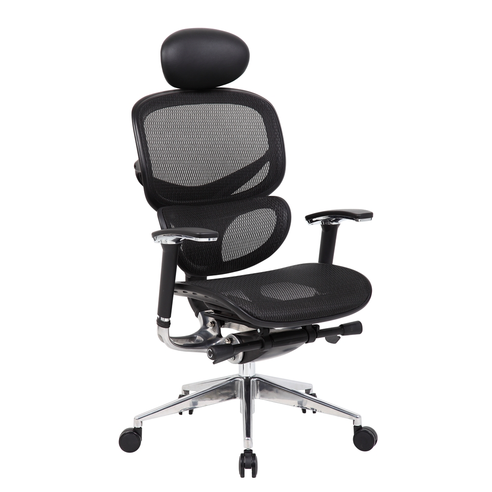 Boss Multi-Function Mesh Chair W/ Head Rest. Picture 1