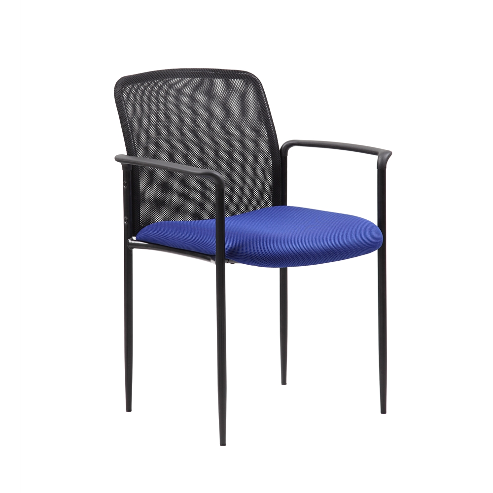 Boss Stackable Mesh Guest Chair - Blue. Picture 1