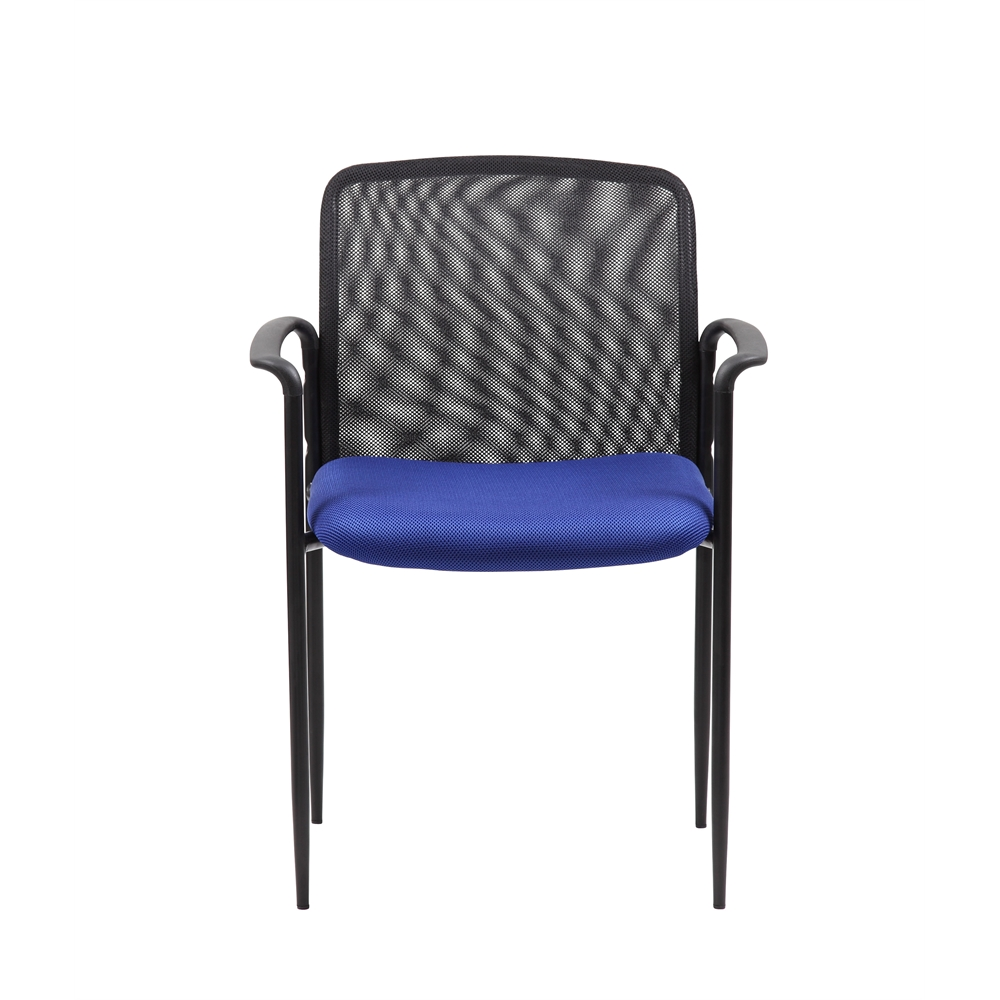 Boss Stackable Mesh Guest Chair - Blue. Picture 2