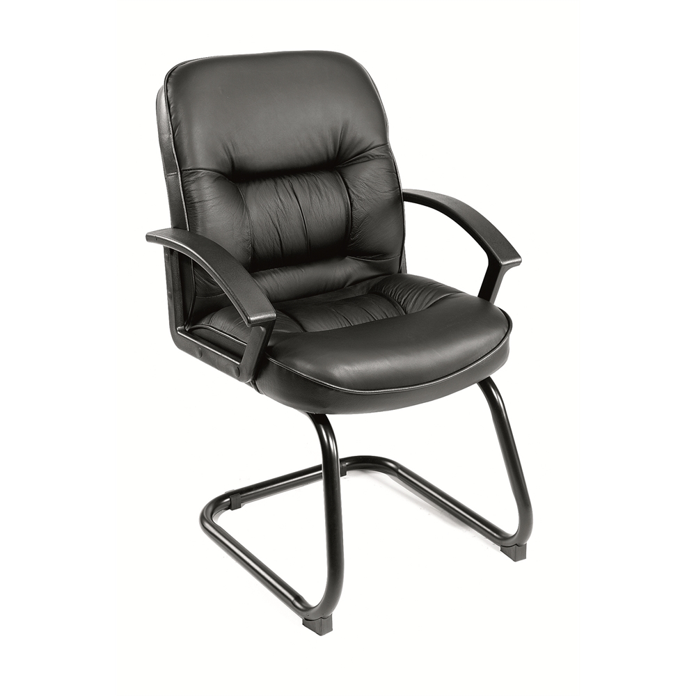 Boss Mid Back LeatherPlus Guest Chair. Picture 1
