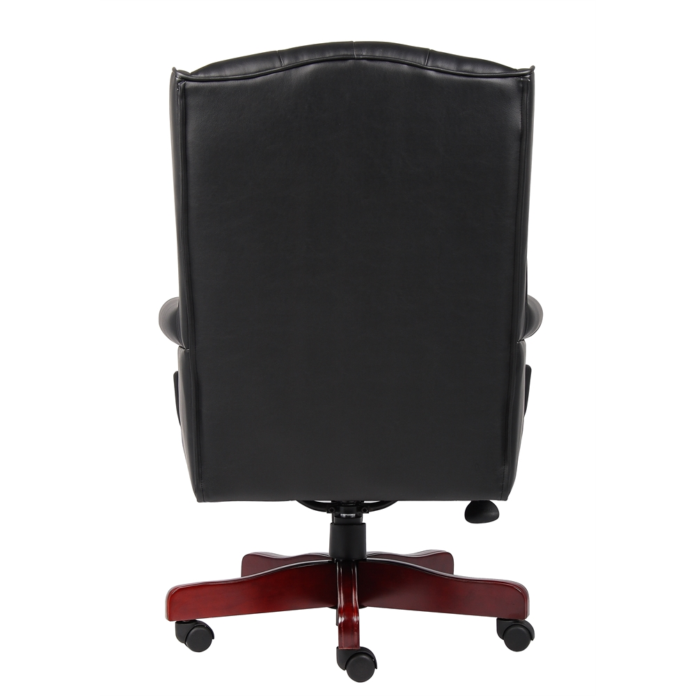 Boss Wingback Traditional Chair In Black. Picture 2