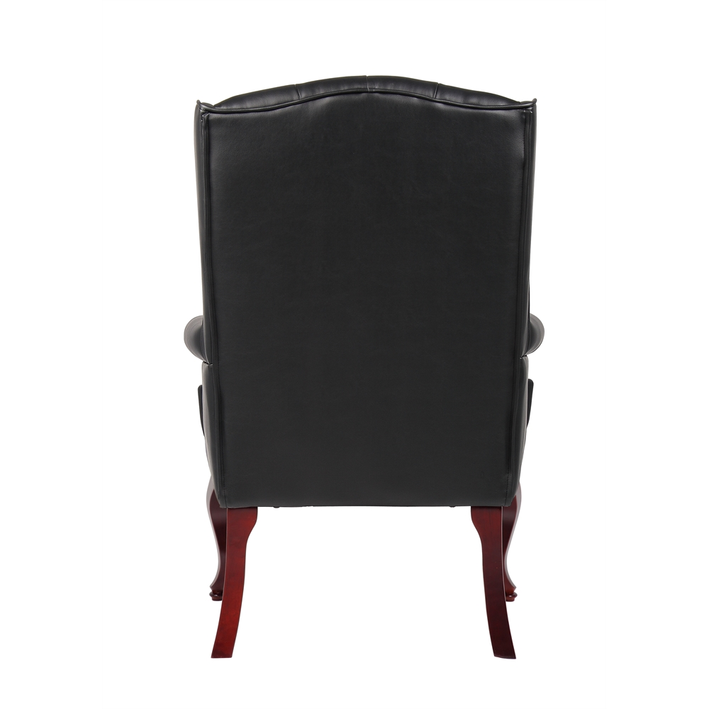 Boss Wingback Traditional Guest Chair In Black. Picture 2