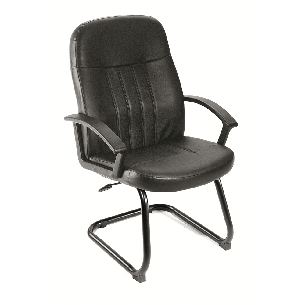 Boss Executive Leather Budget Guest Chair. Picture 1