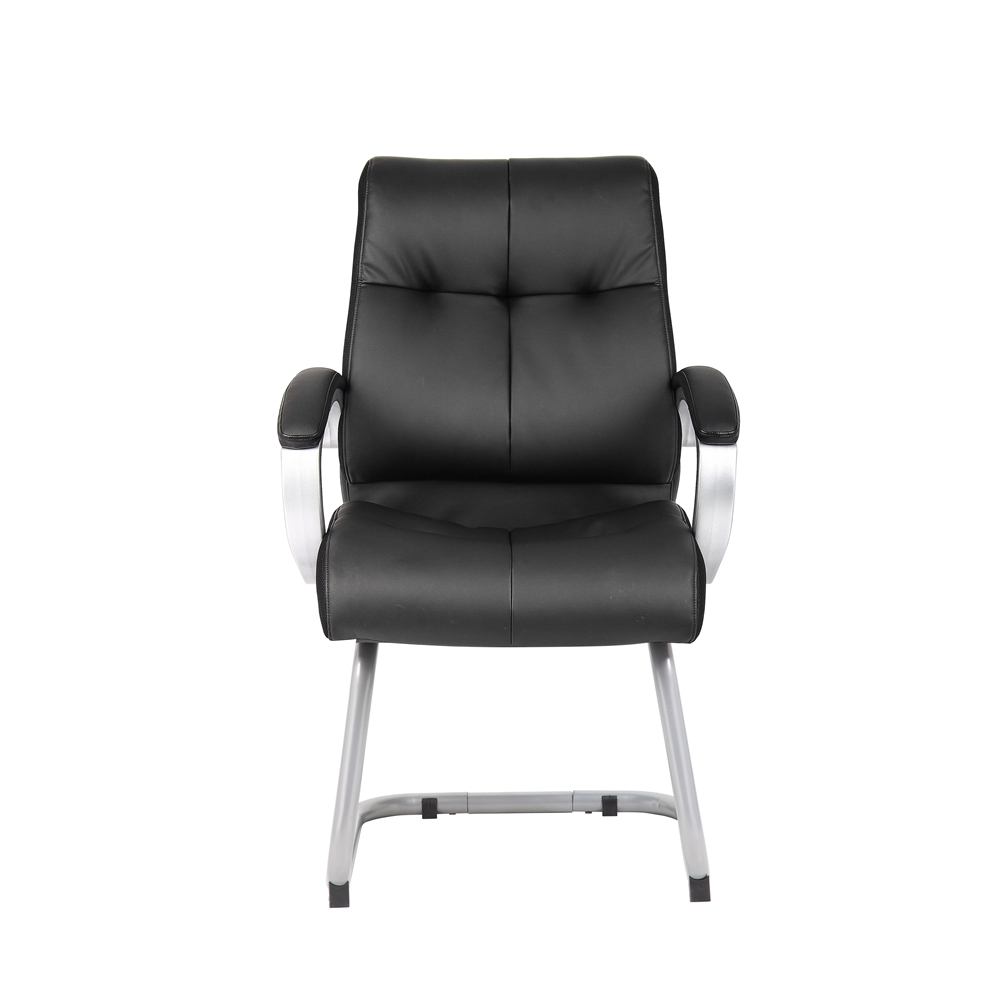 Boss Double Plush Executive Guest Chair - Black. Picture 2
