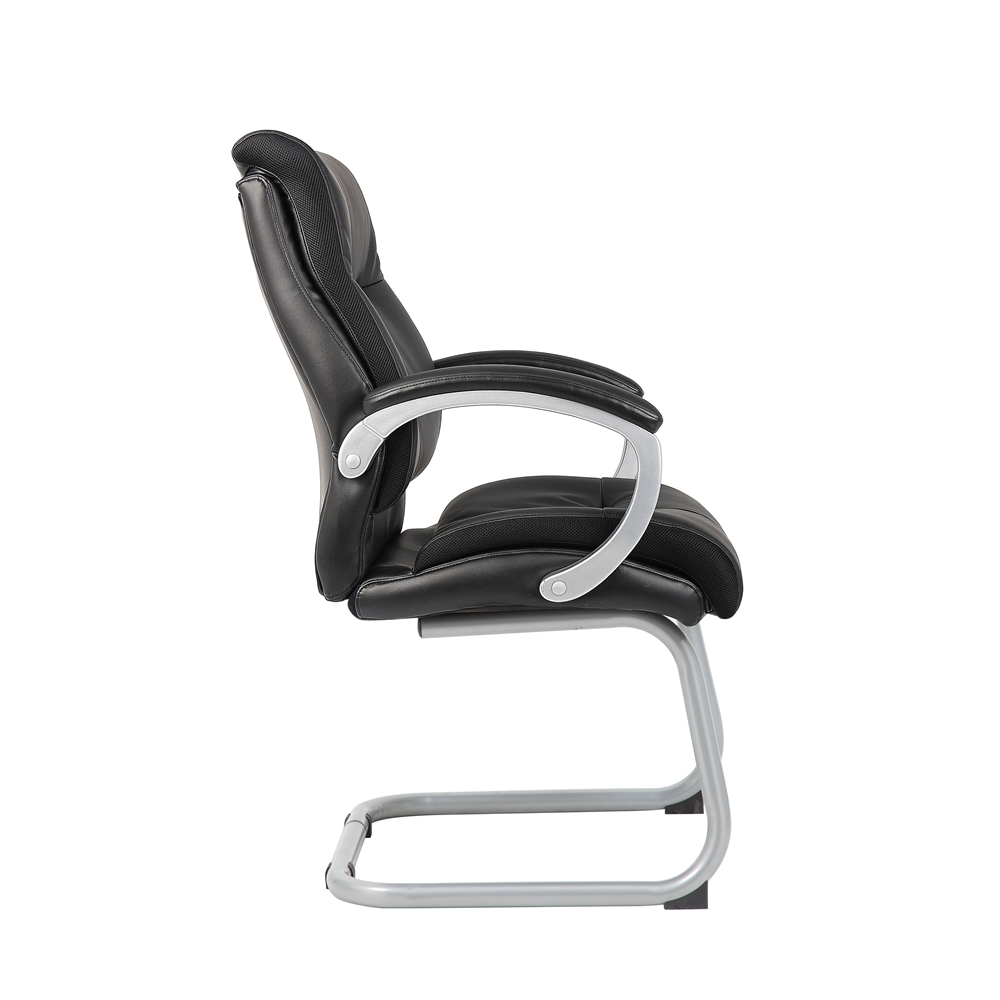 Boss Double Plush Executive Guest Chair - Black. Picture 3