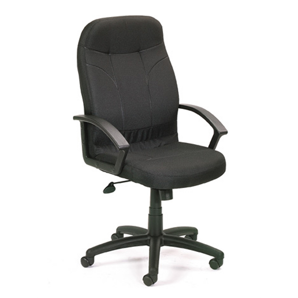 Boss Executive Fabric Chair In Black. Picture 1