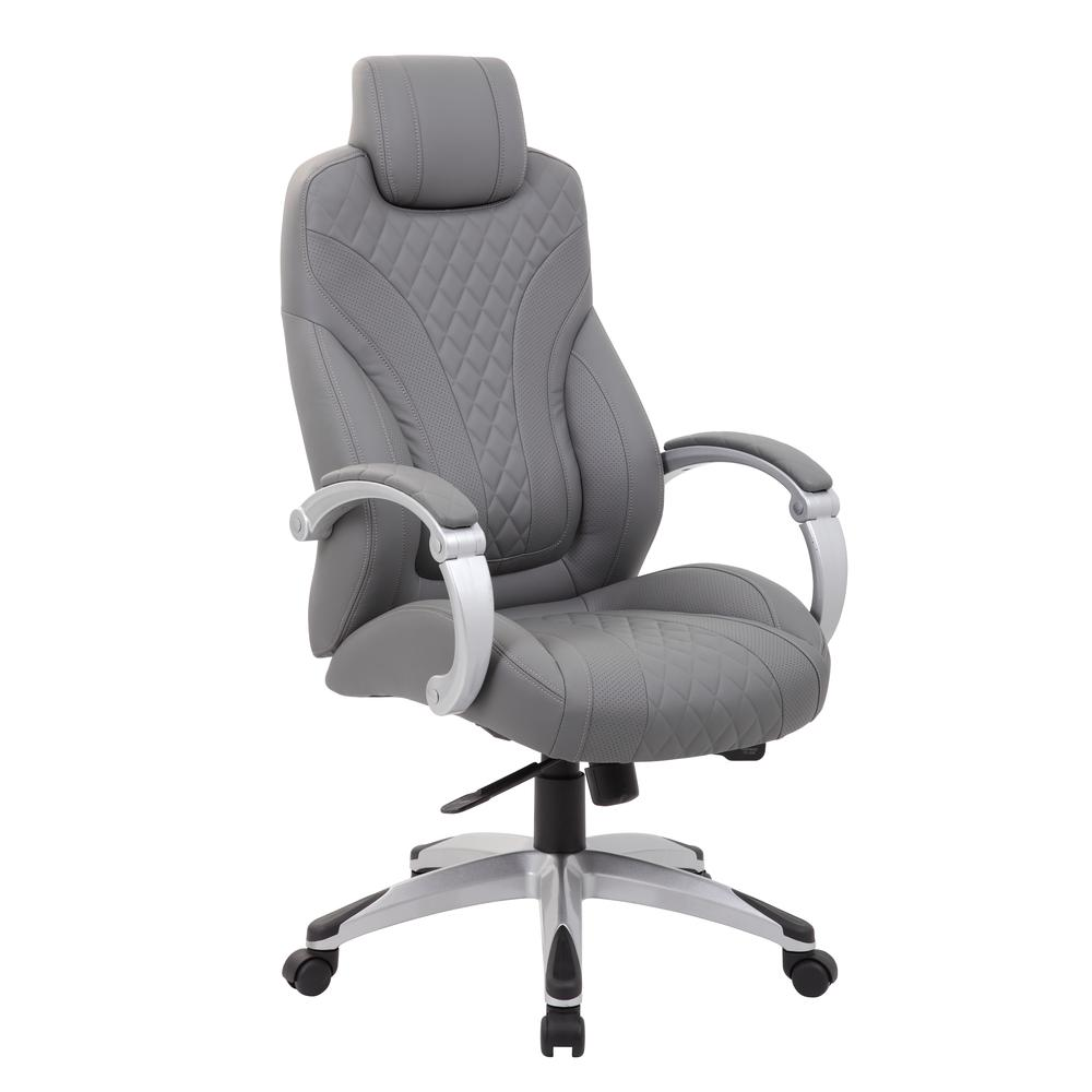Boss Executive Hinged Arm Chair - Grey. Picture 5