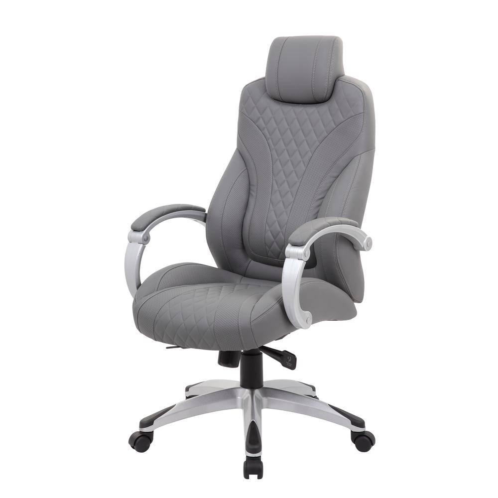 Boss Executive Hinged Arm Chair - Grey. Picture 1