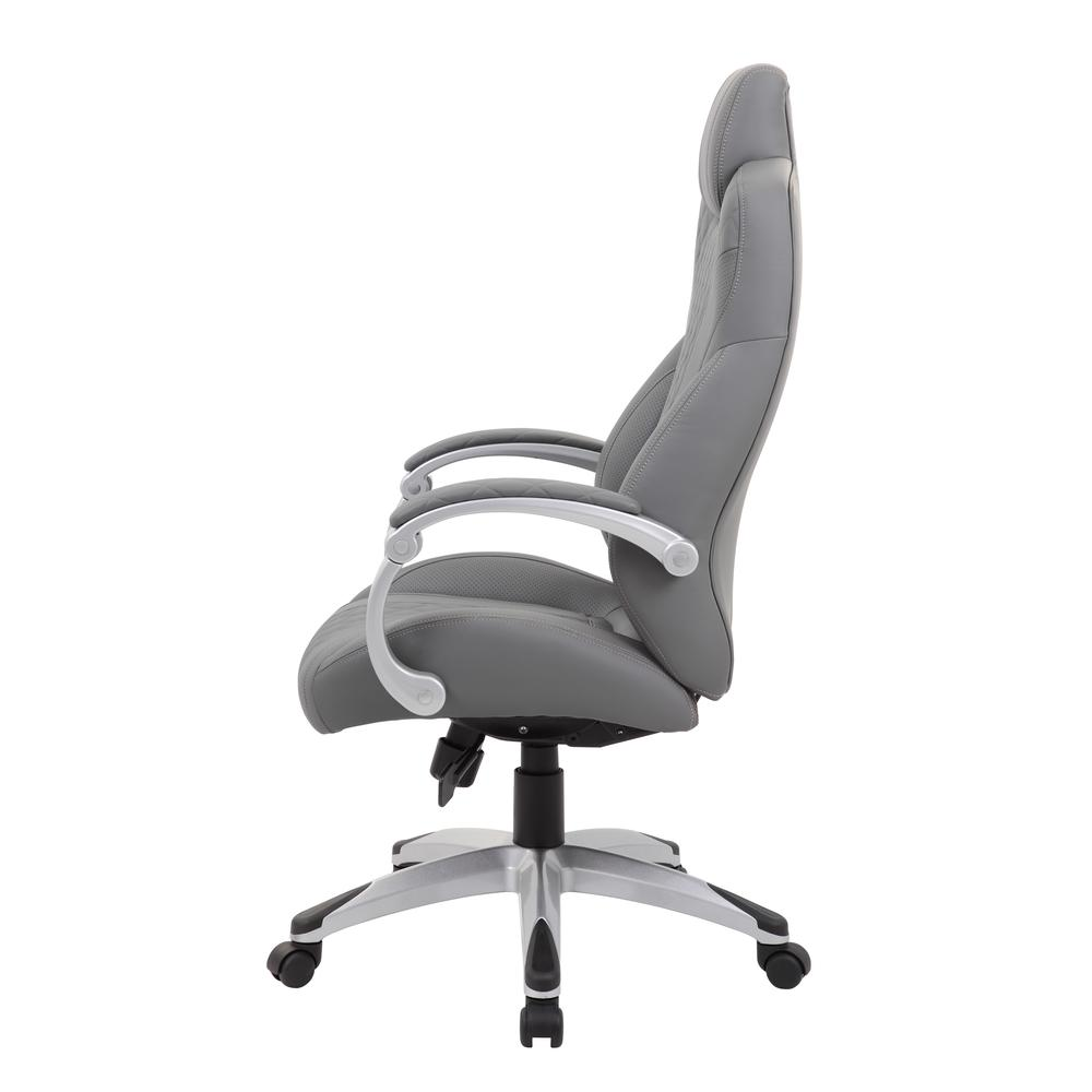 Boss Executive Hinged Arm Chair - Grey. Picture 4