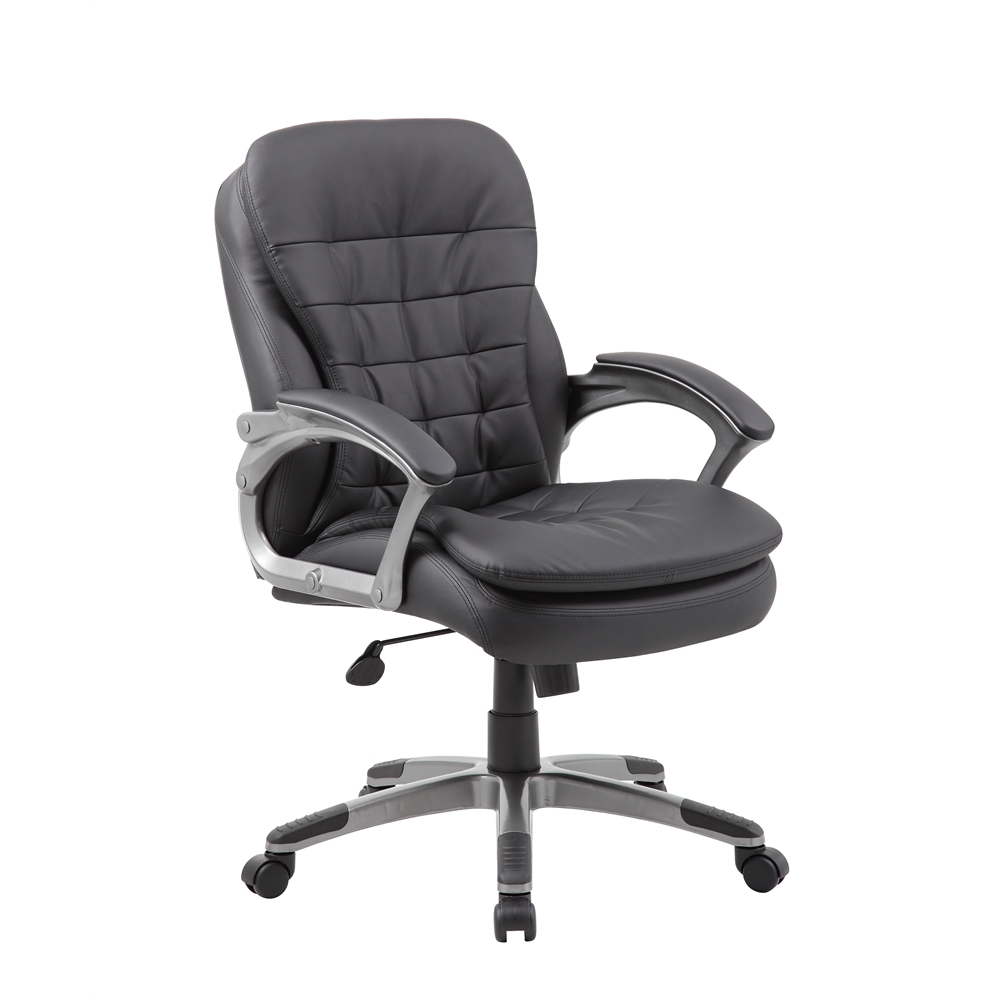 Boss Executive Mid Back Pillow Top Chair. Picture 1