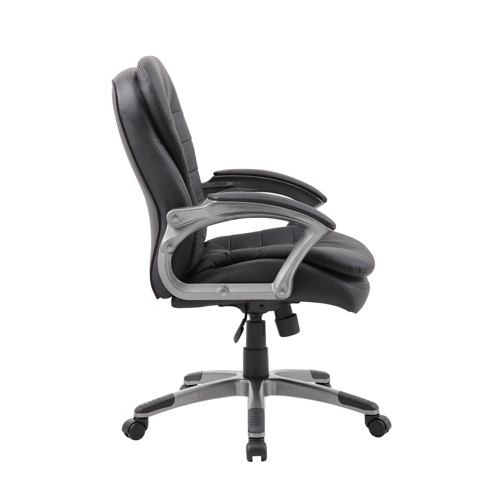 Boss Executive Mid Back Pillow Top Chair. Picture 4